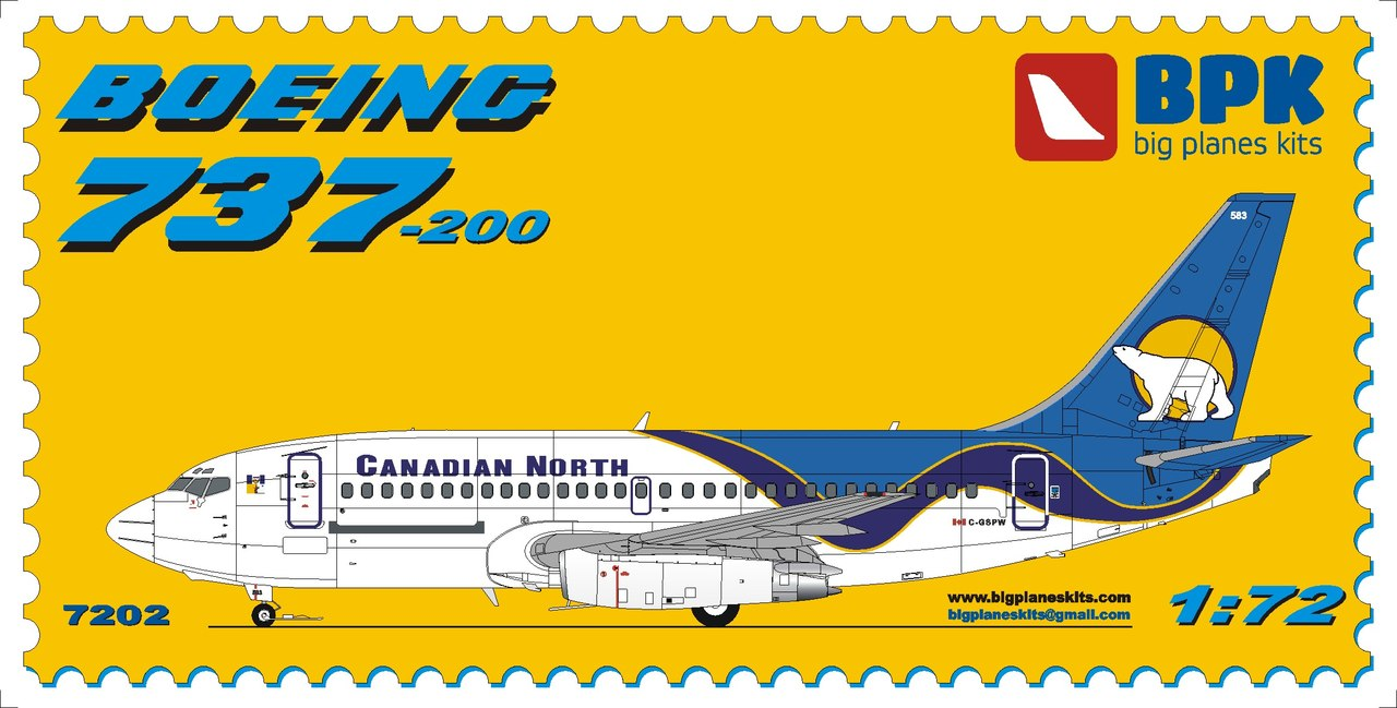 BPK 1/72 Boeing 737-200 Canadian North, with gravelkit