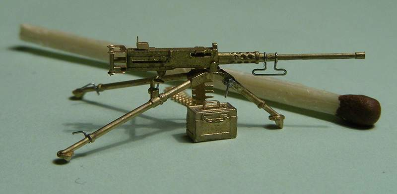 Miniworld 1/72 Browning, M2 .50 cal, Heavy Barrel, Flexible  Mount Tripod