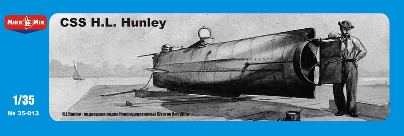 MikroMir 1/35 MH.L. Hunley, Confederate submarine