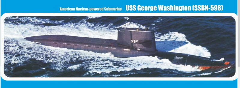 MikroMir 1/350 SSBN-658 George Washington, US nuclear missile submarine