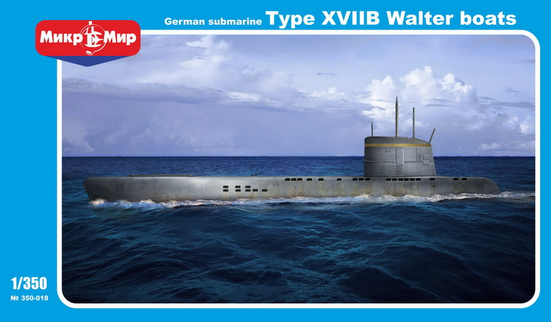 MikroMir 1/350 Type XVIIB, German coastal submarinw