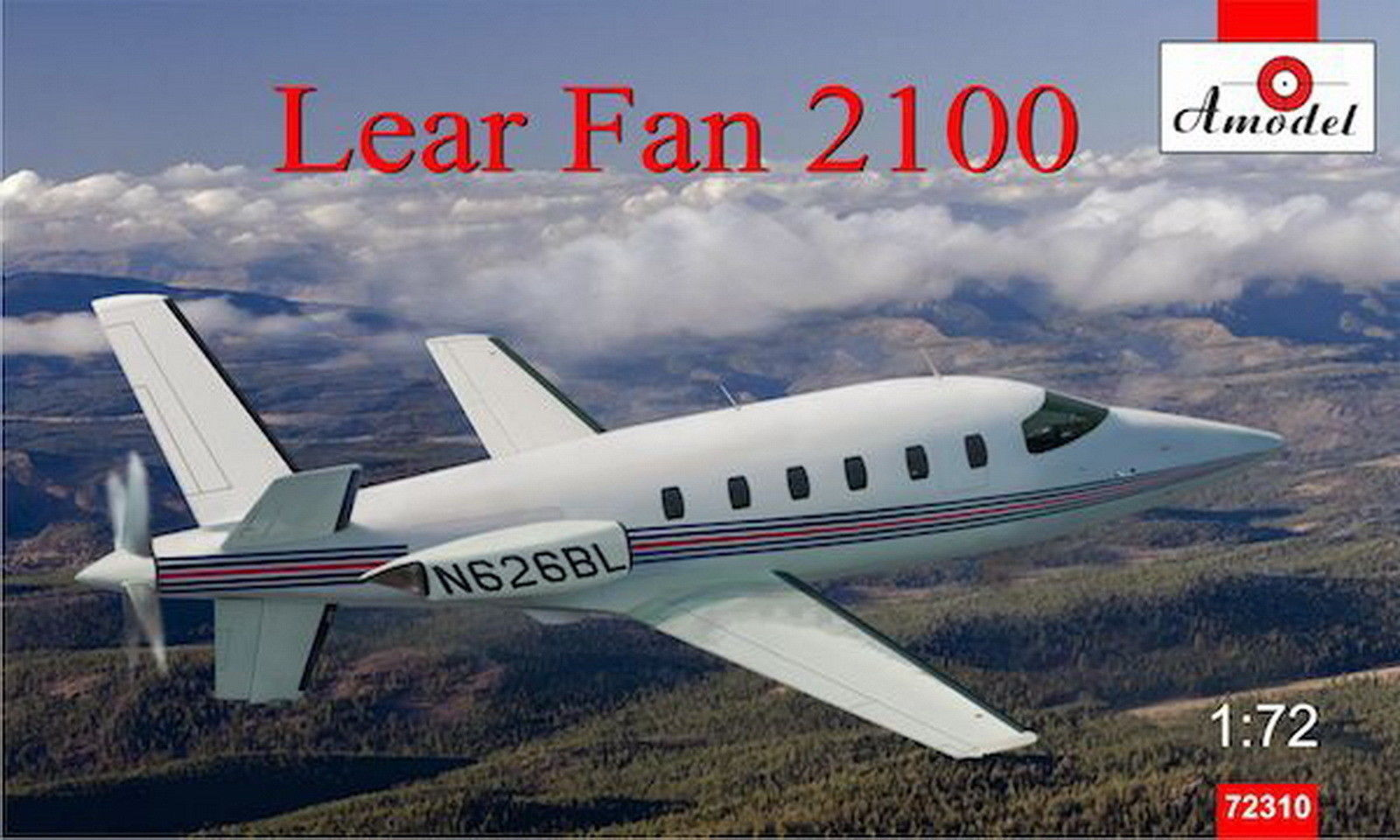 Amodel 1/72 LearAvia Lear Fan 2100, prototyp business jetu