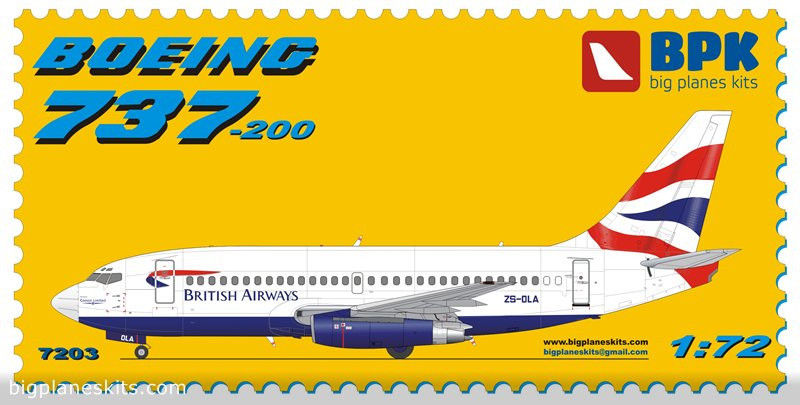 BPK 1/72 Boeing 737-200 British Airways