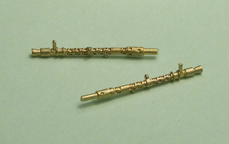 Miniworld 1/72 MG-34 machine gun barrel (2 pieces)
