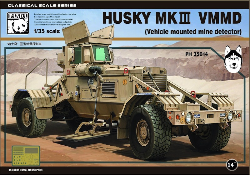 Panda 1/35 Husky VMMD (Vehicle Mounted Mine Detector) US automobil-minohledačka