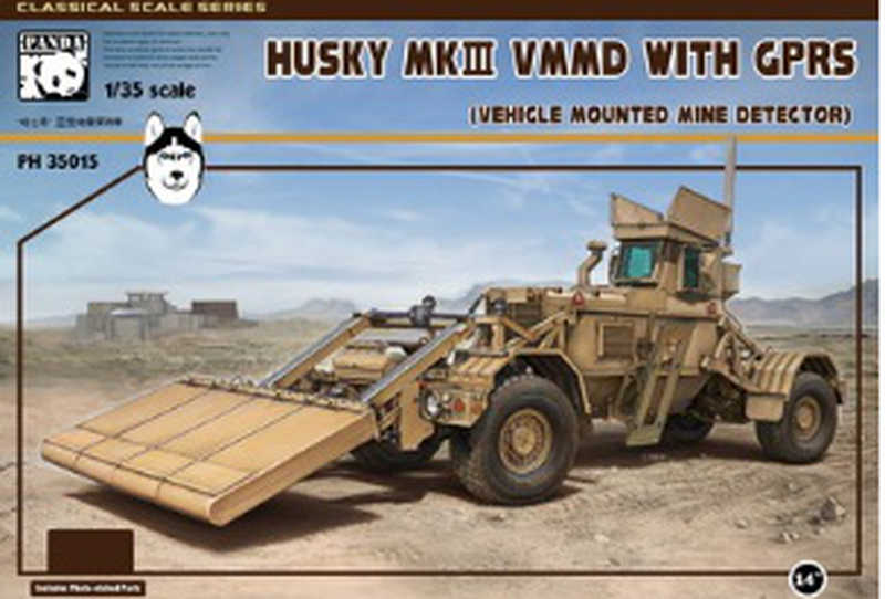 Panda 1/35 Husky VMMD (Vehicle Mounted Mine Detector) automobil-minohledačka